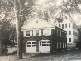 The replacement Brick Firehouse on Sharon road, in 1934