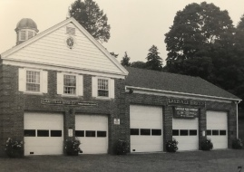 The Brick firehouse, with the addition added in 1976