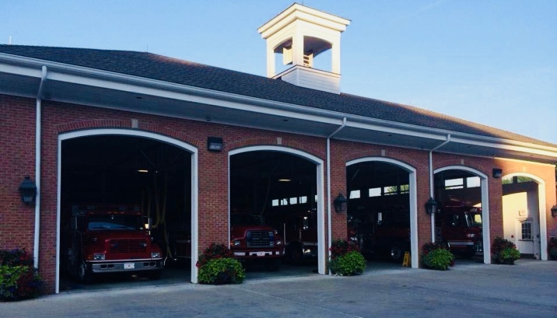 The current firehouse on Brook street, 2010